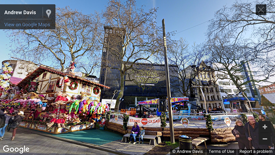 Leicester Square Garden, London, UK photosphere