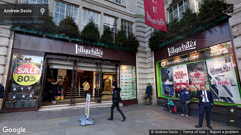 Lillywhites, Piccadilly Circus, London, UK photosphere